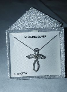 STERLING SILVER ANGEL NECKLACE NEW