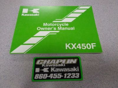 Sell NEW OEM Kawasaki KX450FD Motocross Motorcycle Owners Manual Book 99987-1740 2013 motorcycle in Columbia, Connecticut, United States, for US $18.00