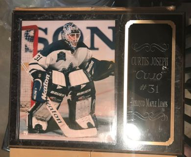 Curtis Joseph Maple Leafs Plaque