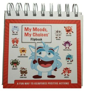 My Moods, My Choices Flipbook for Kids with 20 Different Moods/Emotions to Help Kids Identify Feelings and Make Positive Choices
