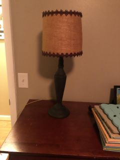 Chalk painted lamp