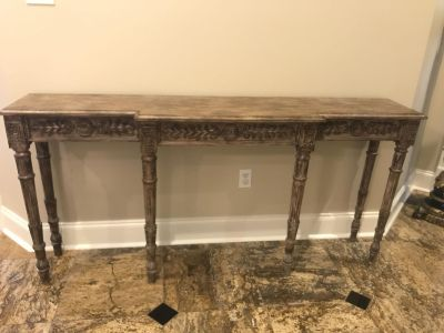 Beautiful long console table