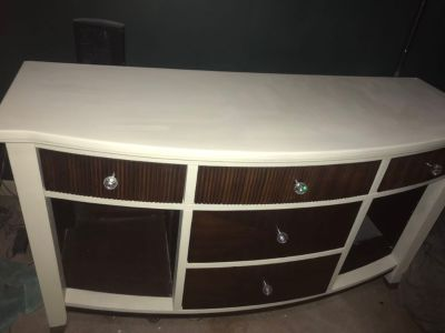 Solid wood tv stand/extra storage/china cabinet