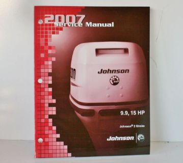 Sell NEW OEM 2007 Johnson SU 2 stroke 9.9 15 HP Outboard Motor Service Manual 5007207 motorcycle in Daytona Beach, Florida, United States, for US $32.69