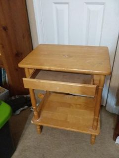 Project table with drawer