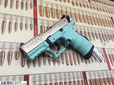 For Sale: New...Walther P22 Angel Blue/ Nickel semi-auto .22lr Pistol