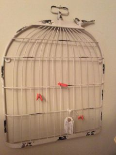 Bird cage picture and note hanger. Can buy clips in michaels I just paid 24 plus tax