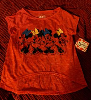 Minnie Mouse red t shirt size 7/8 brand new with tags
