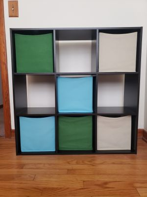 Storage Shelf with cubbies