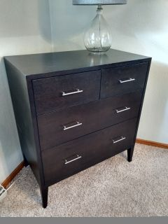 West Elm wood 4 drawer dresser