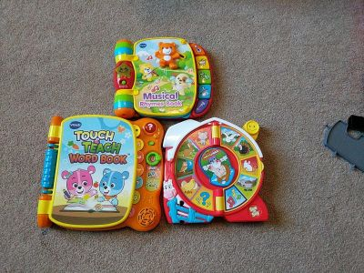 Vtech interactive books and little people see and say