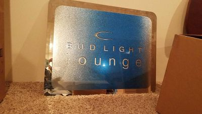 TUESDAY DEAL Beautiful glass ombre and mirror Bud Light Lounge decor