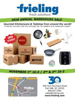 2018 Annual Warehouse Sale - November 2018