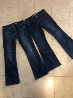 2 pair of American Eagle bootcut jeans
