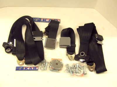 Sell 1965-1973 MUSTANG COUPE,CONV. BLACK FLIP BUCKLE 3 PT SEAT BELT-NO RETRACTORS motorcycle in Columbus, Ohio, US, for US $79.95