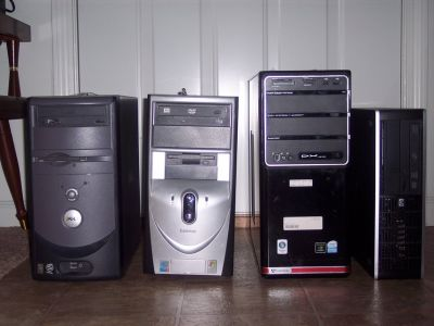 PC 4 of them. One Dell. Two Gateway. One HP. None of theese have hard drives.