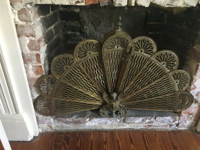 Antique Brass fireplace screen