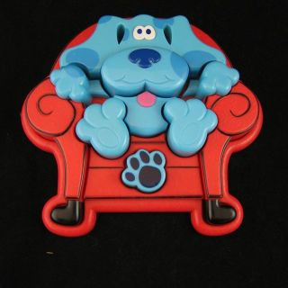 Blues Clues Tray Puzzle 3D Plastic Pieces Blue in Big Red Thinking Chair