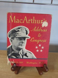 Book~MacAruthu's Address to Congress April 19, 1951