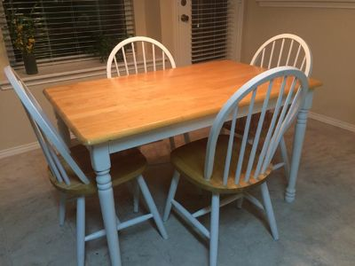 Kitchen Table, Night Stands, Ls, Curtains, and Curtain Rods