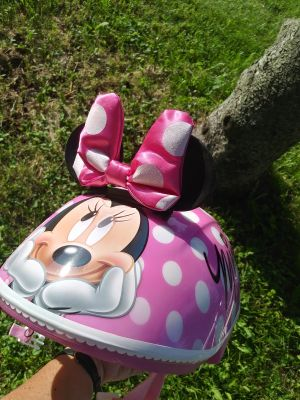 Minnie Mouse bike helmet