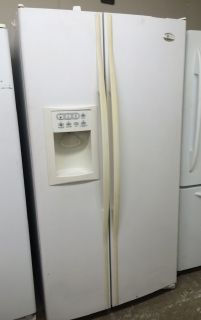 GE 25cu.ft Side by Side Refrigerator in White