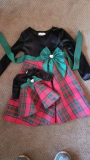 Dollie & Me holiday dresses. Girls size 4T