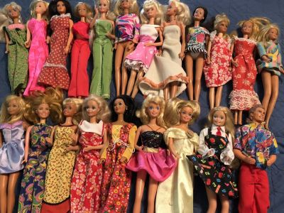 Old Barbie Dollls with Hard Case