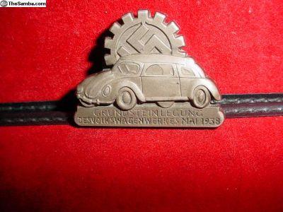 Early 1938 KDF Wolfsburg Employee Badge