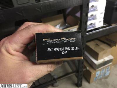 For Sale: Blazer brass 357 magnum hollow point