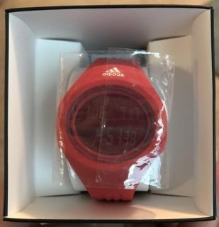 Red adidas watch!
