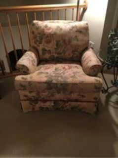 Floral Club Chair