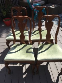 Queen Anne chairs (4)