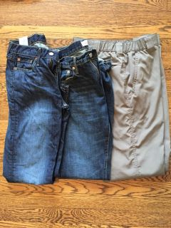 Jeans and light weight pants for male teens