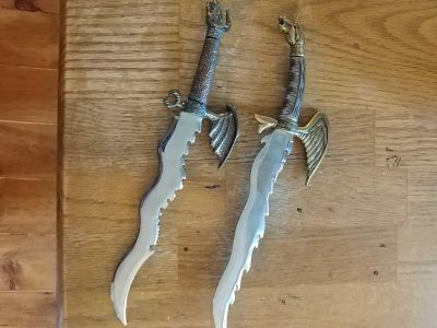 Two Fantasy dagger style letter openers