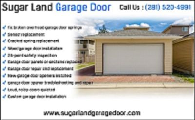 Expert Garage Door Spring Repair since 2000| Sugar Land, 77498 TX|$25.95