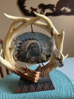 Indian head and antlers