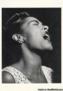 BILLIE HOLIDAY RARE PHOTO POSTCARD