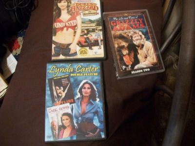 Grizzly Adams:Complete 2nd Season,HotLine and The Last Song:Lynda Carter Double Feature,Dukes of Hazzard:Unrated dvd's