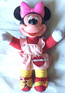 Vintage Minnie Mouse Doll Education Learn to Dress