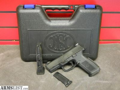 For Sale: FN Herstal FNS-40 Semi-Auto .40 S&W Pistol Comes With Extra Back Strap, Case, 2 14 Round Magazines $349.99