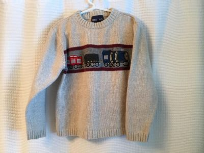 Sweater with train