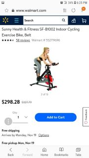 I have 3 sunny fitness bikes new in box. Great for a holiday gift or get started early on your New years resolution. Retail for $289.99 at W