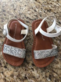 Rampage toddler size 6 glitter sandal - like new