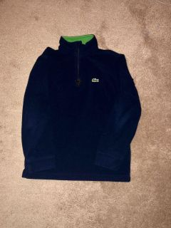 Boys Lacoste zip up pull over