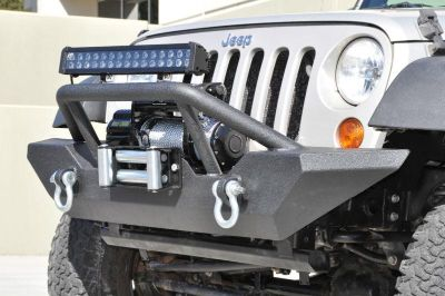 Sell JK Jeep Wrangler Front Winch Bumper KO Off Road D Rings Steel Stinger 03 Black motorcycle in Seeley Lake, Montana, US, for US $365.00