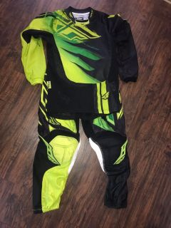 Youth Large Fly Racing Dirt Bike Motocross Pants and Top