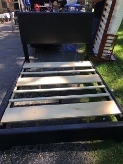 Full size pleather bed frame