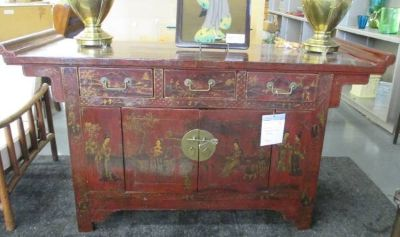 SALE Asian Console, Buffet, Credenza or TV Stand