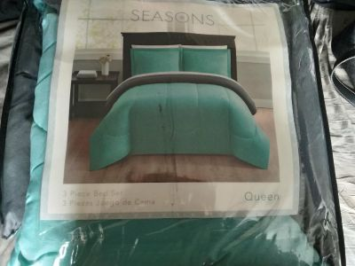 New queen size bed set
